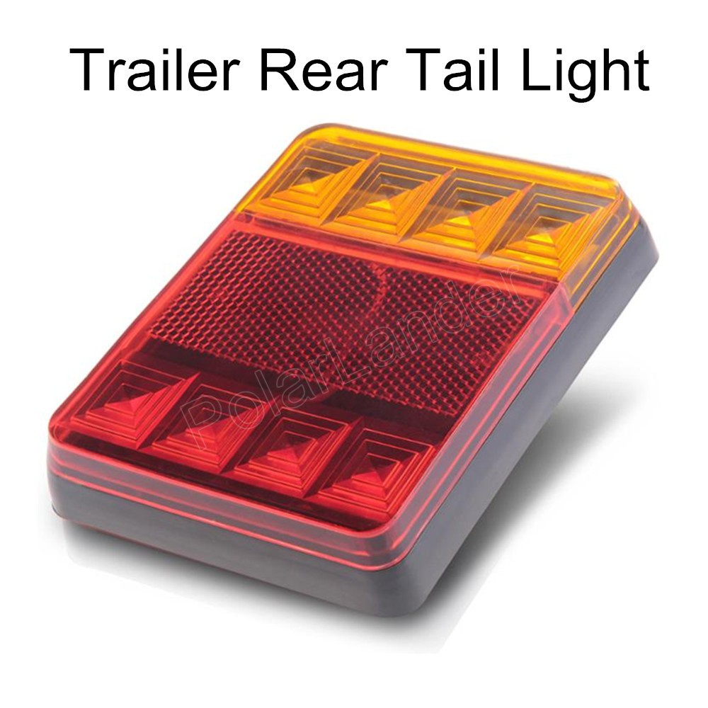 2 pieces Waterproof 8 LED Taillights Rear Tail Light DC24V for Trailer Truck Boat best selling new arrival