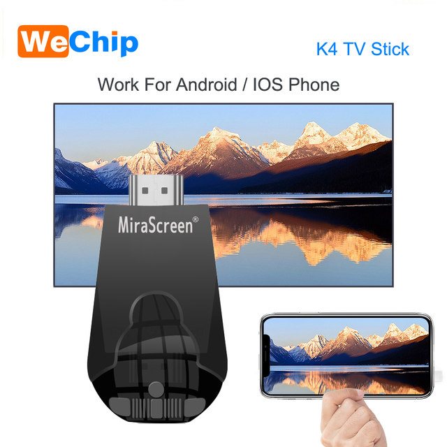 Mirascreen K4 טלוויזיה מקל 2.4G אלחוטי WiFi תצוגת Dongle תמיכת 1080 P HD Miracast Airplay עבור אנדרואיד IOS חכם טלפון שולחן מחשב