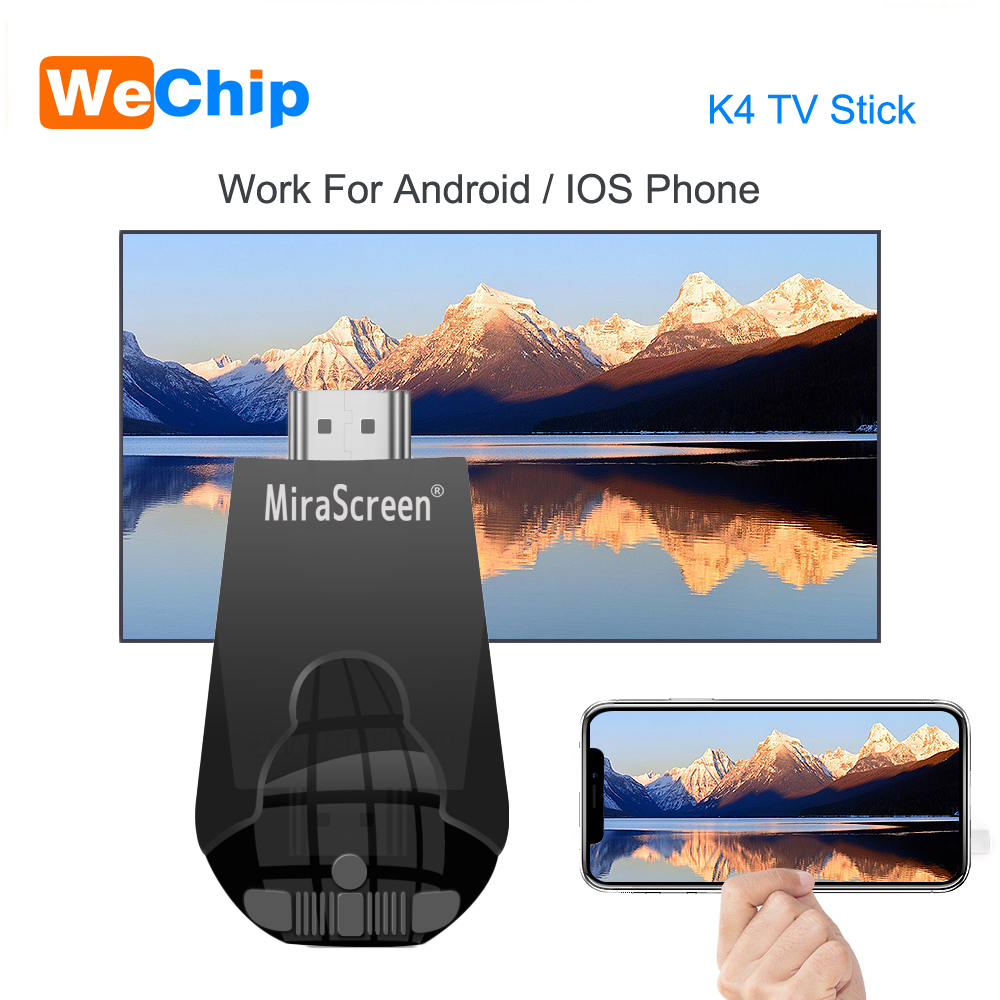 Mirascreen K4 TV Stick 2.4G Wireless WiFi Display Dongle Support 1080P HD Miracast Airplay For Android IOS Smart Phone Table PC