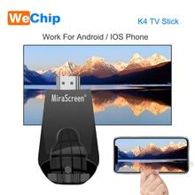 Mirascreen K4 tv Stick 2,4G беспроводной WiFi Дисплей ключ поддержка 1080 P HD Miracast Airplay для Android IOS смартфон Настольный ПК