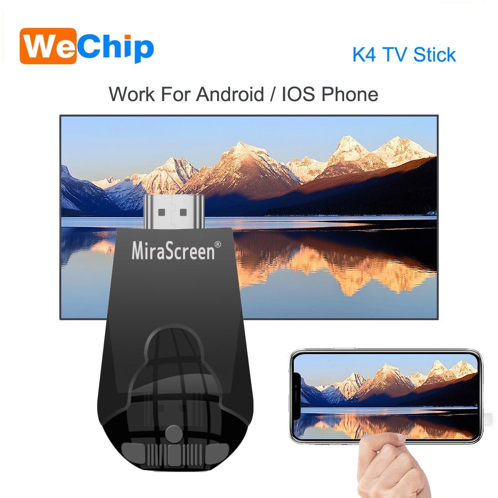 Mirascreen K4 TV Stick 2,4G inalámbrico WiFi Display Dongle soporte HD 1080P Miracast Airplay para Android IOS teléfono inteligente PC de mesa El más nuevo 1080P Anycast m4plus TV Dongle 2 reflejo múltiples TV stick adaptador Mini Android cromo fundido Dongle WiFi HDMI cualquier fundido