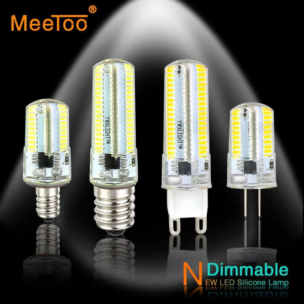 LED Lamp G9 G8 G4 LED Bulb Candle Light E14 E12 E11 E17 220V 110V Spotlight 64/152 LEDs Dimmable Corn Light Bulbs For Chandelier