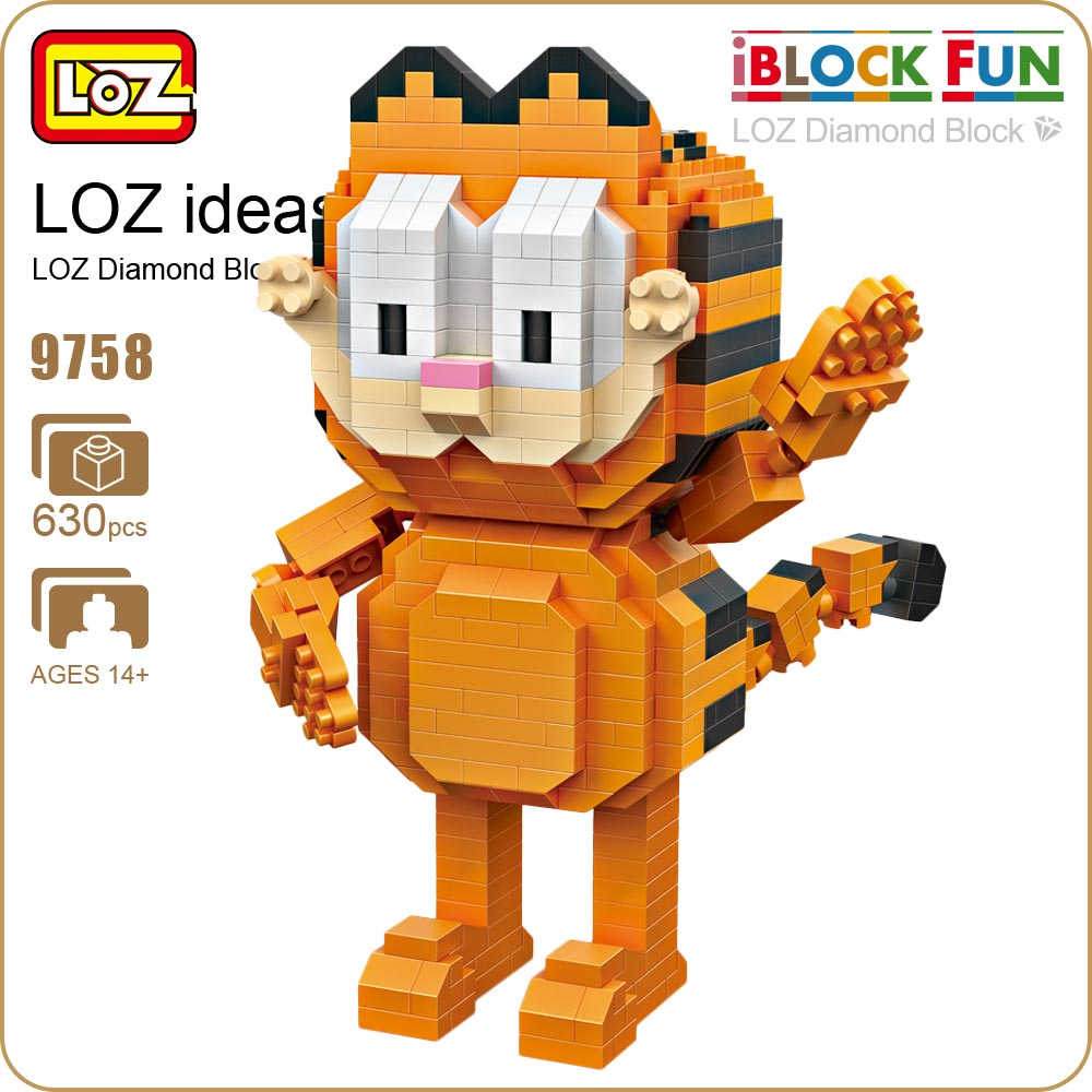 LOZ Diamond Blocks Exotic Cat Figure Toy Pixels Blocks Toys For Children Gift Series Micro Block Cute Animal Assembly Model 9758 loz diamond blocks dans blocks iblock fun building bricks movie alien figure action toys for children assembly model 9461 9462