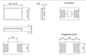 Image 2 - 13.081เมกะเฮิร์ตซ์5032คริสตัลแบบp assiveแพทช์13.081เมตรคริสตัลเรื่อยๆ5*3.2 2ฟุต