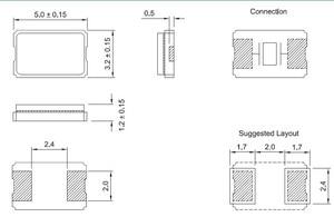 Image 2 - 13.081 parche MHZ 5032 cristales pasivos 13.081 M cristal pasiva 5*3.2 2 pies