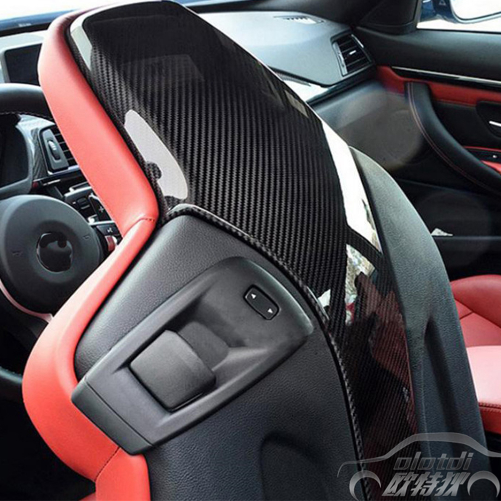 OLOTDI For BMW M3 M4 Carbon Fiber Seat Chair Back Cover