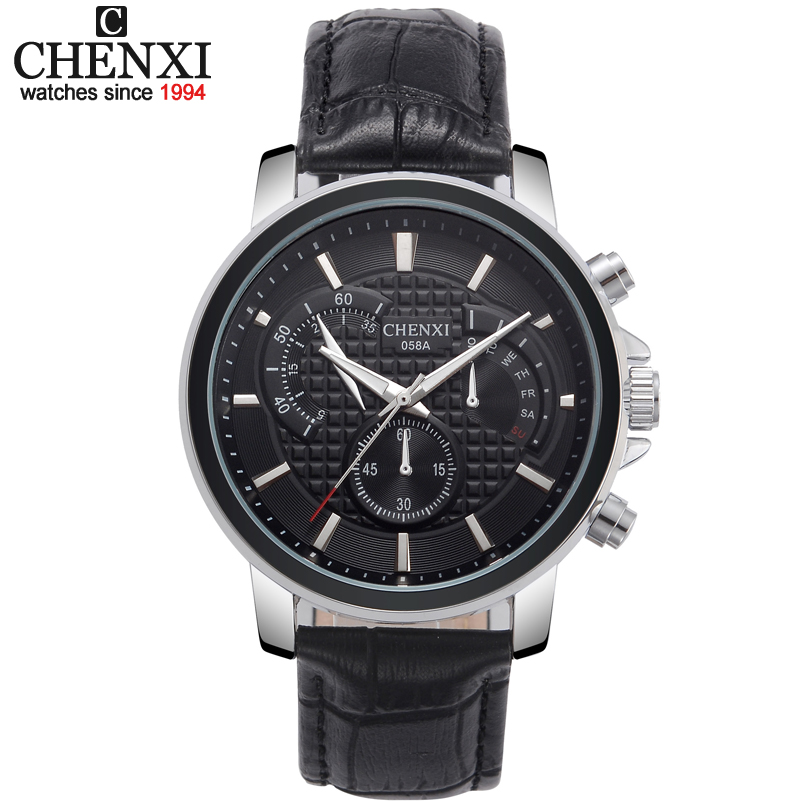 4 Colors New fashion luxury top brand CHENXI men watch clock male leather strap quartz watches men's dress wristwatches 058 new listing men watch luxury brand watches quartz clock fashion leather belts watch cheap sports wristwatch relogio male gift
