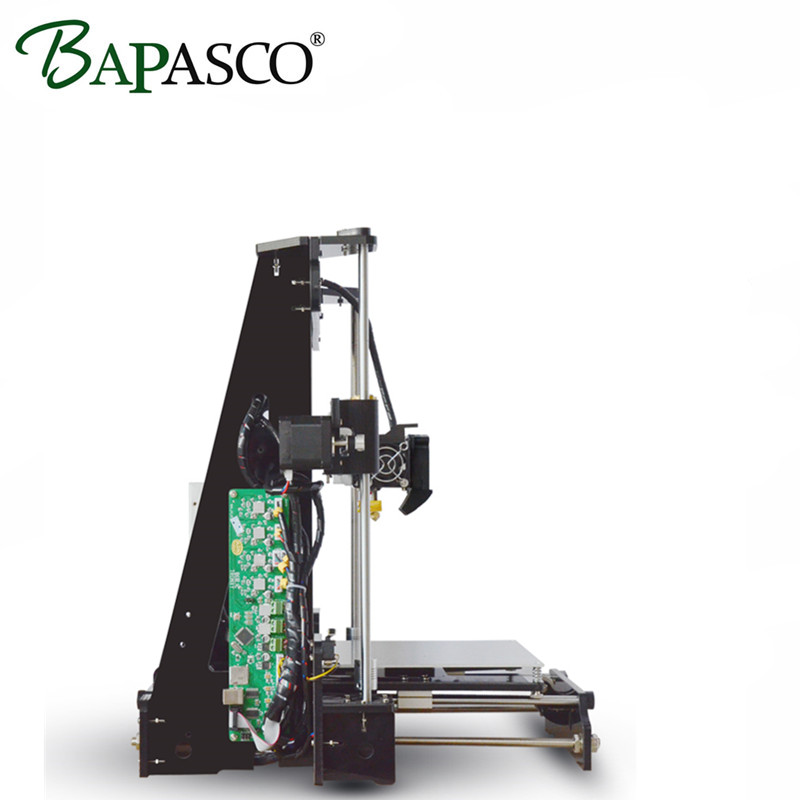 2017 BAPASCO Large Printing Size Precision Reprap Prusa i3 DIY 3D Printer kit with Filament &Card& Video high precision Quality! easy assemble anet a6 a8 3d printer kit high precision reprap i3 diy large size 3d printing machine hotbed filament sd card lcd
