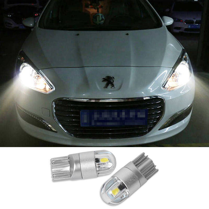 2x T10 3030 SMD LED W5W Parking Lamp Clearance Light For <font><b>PEUGEOT</b></font> 307 308 508 408 RCZ 206 306 207 208 406 5008 <font><b>607</b></font> 806 807 image
