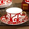 Кружка ceram  модная английская кофейная чашка  блюдце  Набор чашек  тарелка из костяного фарфора  керамика  высокое качество  для домашнего ис...