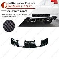 Car Accessories Carbon Fiber VRS Style Rear Diffuser Fit For 2007 2011 E90 E92 E93 M3 Rear Bumper Under Diffuser Lip