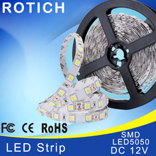iluminacion led strip lamp rgb 5050 diode tape led light strip fita de 12v smd tiras neon 5m christmas decoration