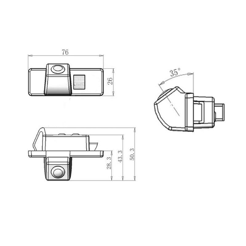 76 26 50 3mm Car font b Camera b font for Geely Emgrand ES8 Gleagle GC