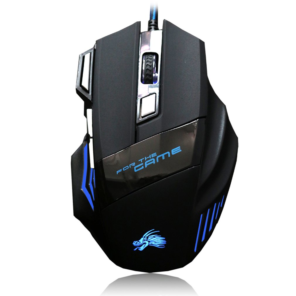 Gaming Mouse High Quality Professional Wired  7 Button 5500 DPI LED Optical USB Computer Game Mice Cable