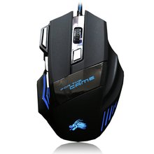 Gaming Mouse High Quality Professional Wired  7 Button 5500 DPI LED Optical USB Wired Computer Game Mouse Mice Cable Mouse mc saite mc 002 800 1000dpi usb wired optical mouse black yellow 137cm cable