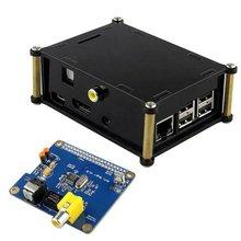 Raspberry pi Digital Sound Card HIFI DiGi expansion board +Acrylic case I2S SPDIF Module For Raspberry Pi 2 for raspberry pi 3