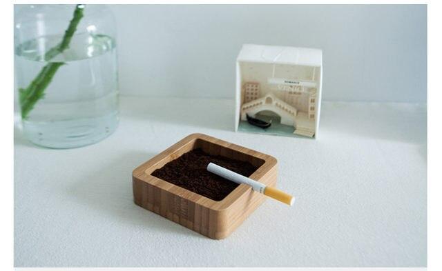 Bambou cendrier creative style moderne salon bureau en bois table