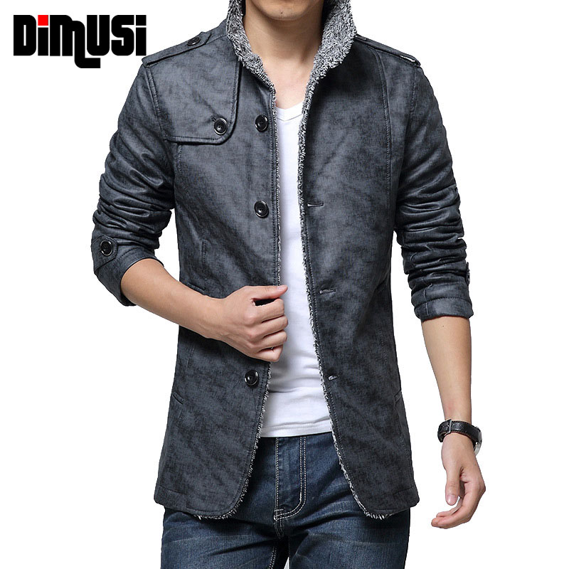 Winter Men/'s Stand Collar Warm Cotton Jacket Thick Thermal Button Coat Outwear