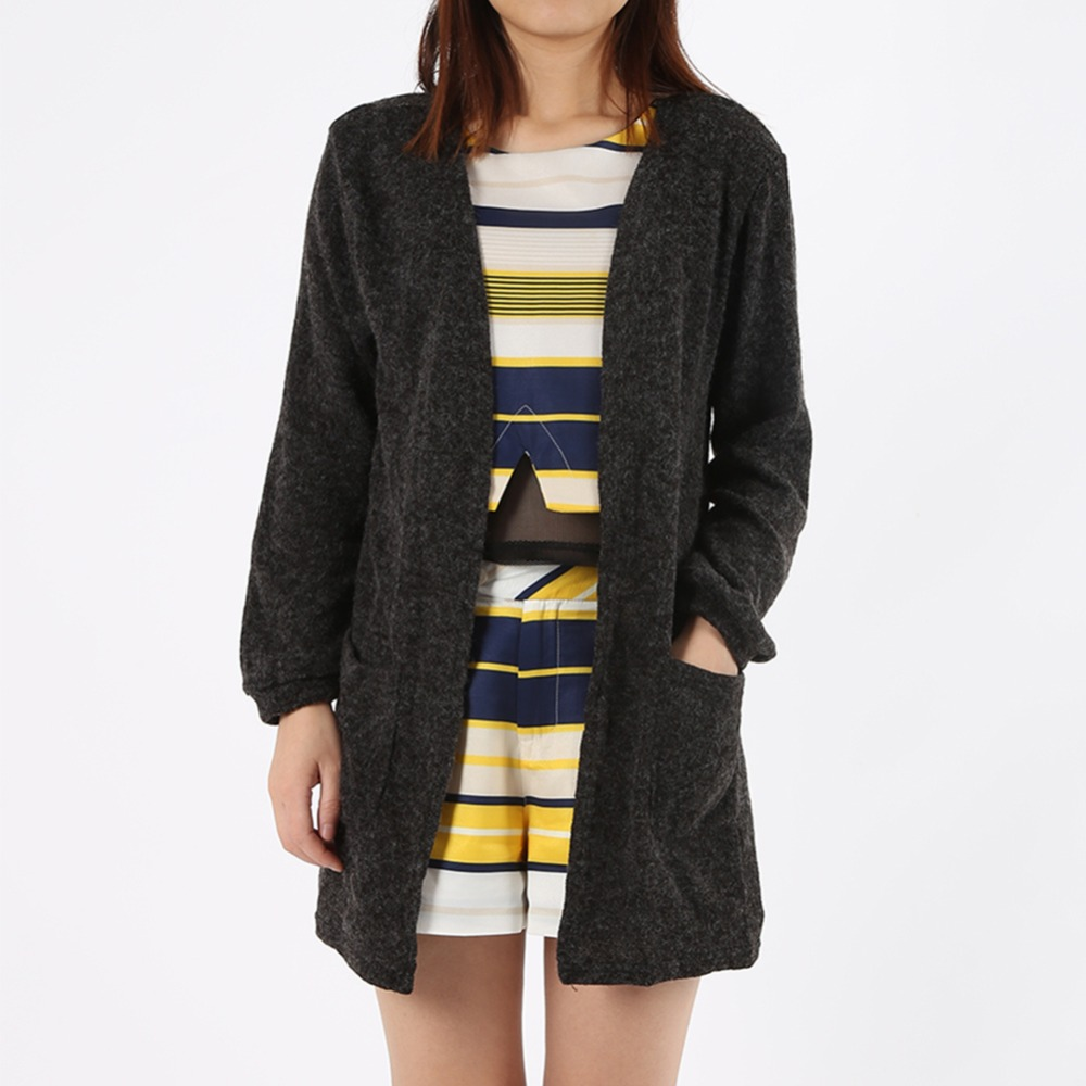 Autumn Summer Sweaters Black Women Tops Noir Knitted Cardigan Long ...