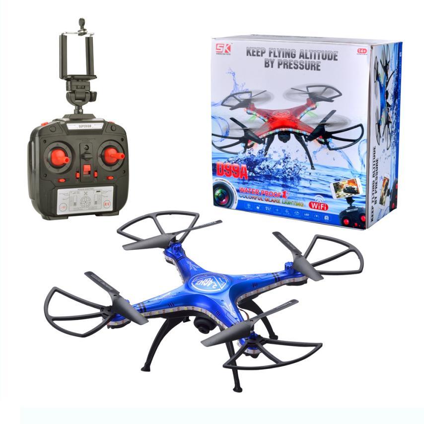 Mini SHENGKAI Y D99A Drone RC Quadcopter Drone WIFI 2MP Cámara 2.4G 4CH 6 Ejes F