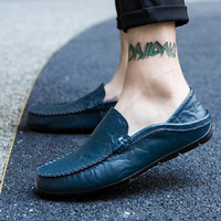 2019 Men Casual Shoes Light Breathable Genuine Leather Shoes Men Flat Comfortable loafers Men Soft Moccasins Shoes Slip On