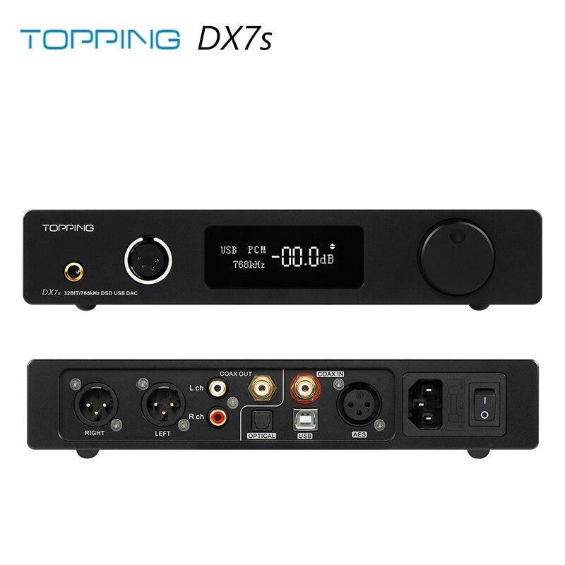 Cobertura DX7S 2 * ES9038Q2M 32Bit/768 K DSD512 DSD USB Completa Equilibrada Amplificador de Auscultadores DAC
