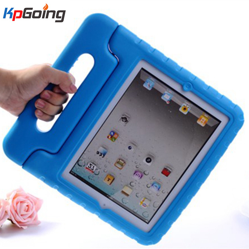 Shockproof EVA Case For IPad 2 3 4 Case Kids Silicone Edge With Portable Hand Holder Stand Cover For IPad 3 4 2 Case Safe Fundas
