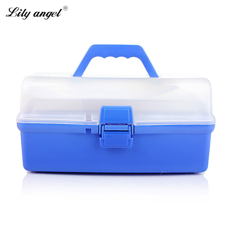 Lily angel 3 Layer Multi Utility Utility Storage Case professional Nail Art box manicure kit nail tool Makeup box large size Z