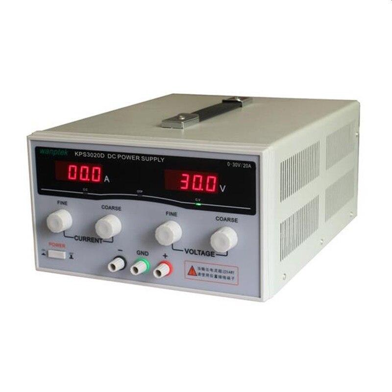 600 W KPS3020D haute précision réglable alimentation numérique DC 30 V/20A pour commutateur de laboratoire de recherche scientifique