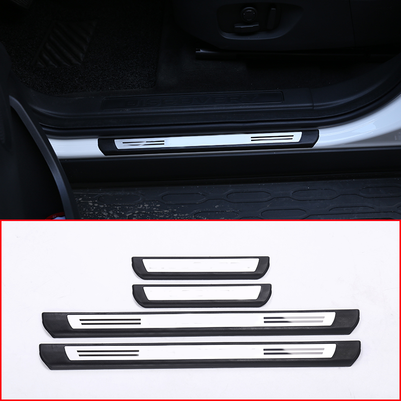 For Land rover Discovery Sport 2015-2018 Car Outside Door Sill Protector Plate Cover Trim Car Accessories 4Pcs for land rover range rover sport stainless inside door sill scuff plate 2014 2017 4pcs silver black