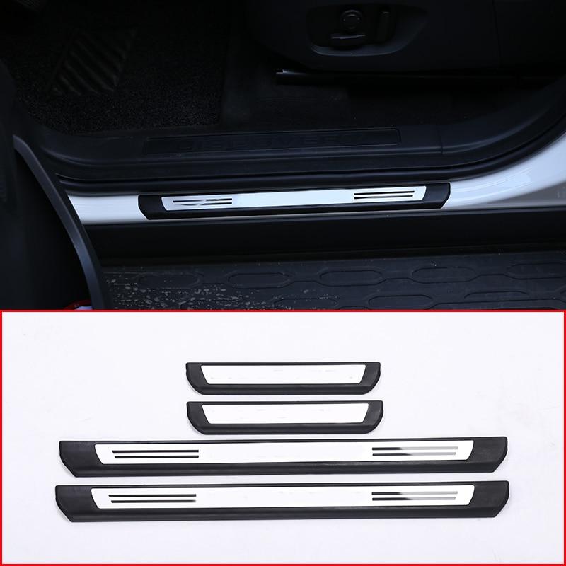 Pour Land rover Discovery Sport 2015-2018 protecteur de seuil de porte extérieure de voiture garniture de couvercle de plaque accessoires de voiture 4 pièces