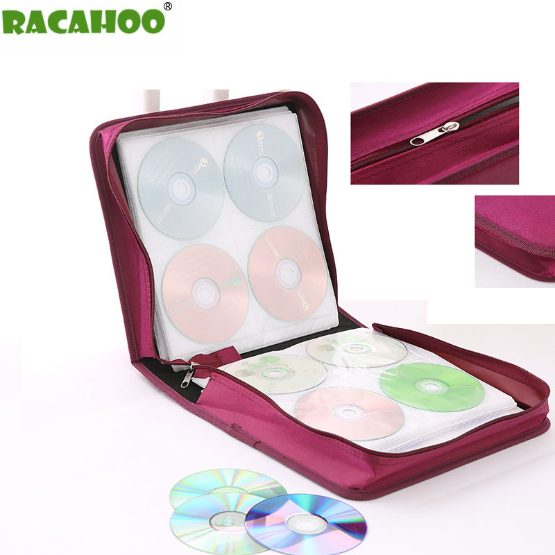RACAHOO CD Case Dust-Proof Protection Storage CD/DVD Package 256-Disc Capacity For Home And Car Traveling Carry
