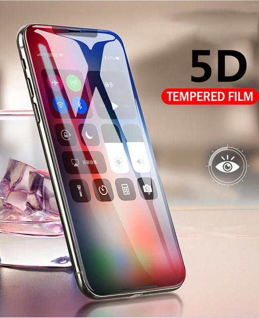 wholesale dealer c1b47 ac4b6 US $4.99 |Aliexpress.com : Buy 5D Edge Full Screen Protector For iPhone XS  XR Tempered Glass Ultra Thin Full Coverage Protective Glass For iPhone Xs  ...