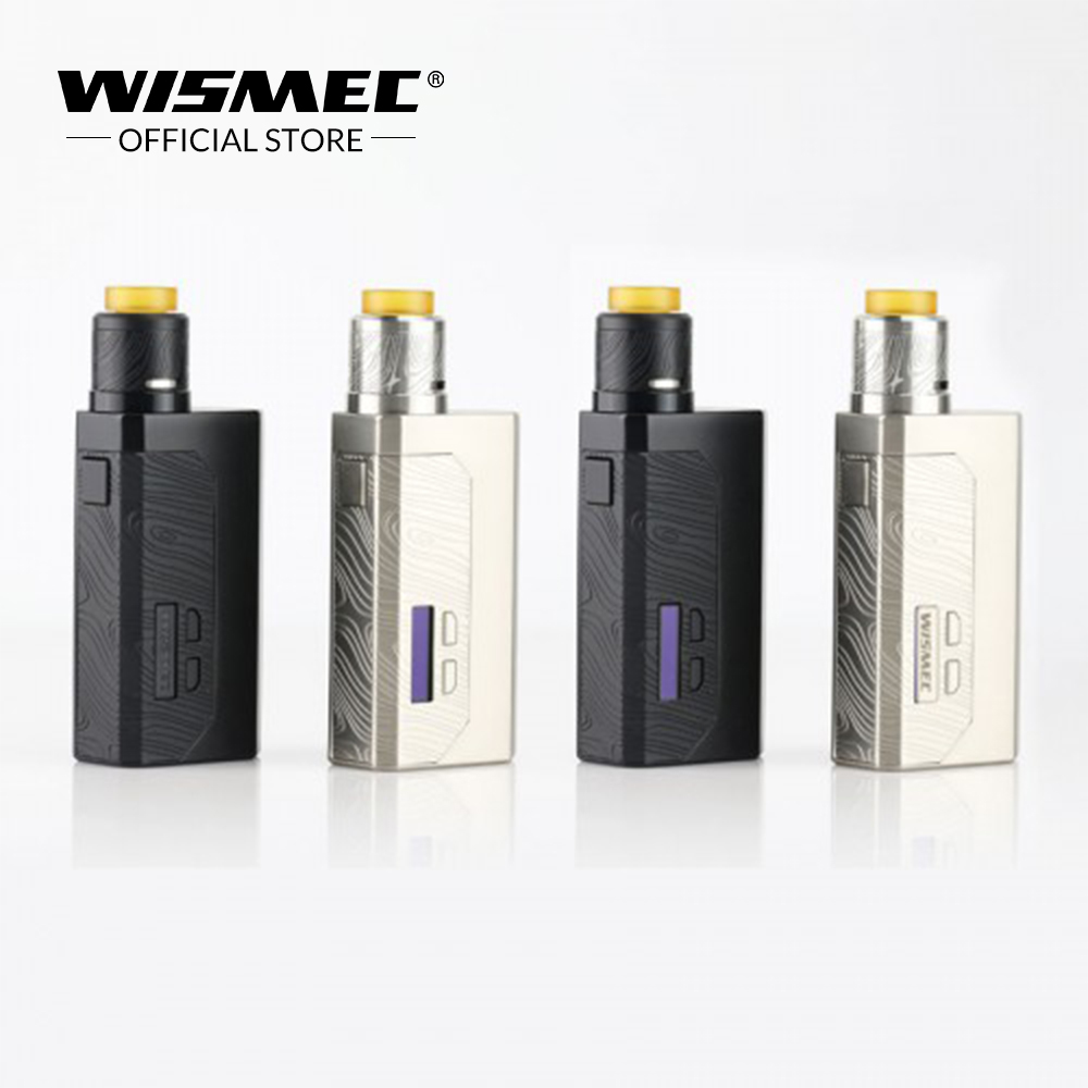 [EN INVENTAIRE] D'origine Wismec Luxotic MF Boîte Kit avec Guillotine V2 RDA Réservoir avec 7 ml squonk bouteille utilise 21700/18650 e-cigs Mech kit