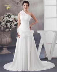 Jeanne Love A Line свадебное платье es 2019 свадебное платье шифон одно плечо цветок простое свадебное платье Robe De Mariage JLOV75959