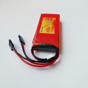 Image 3 - Flytown nano công nghệ 1450 mAh 6.6 V 20C LiFePO4 Cuộc Sống pin RX Thu pin pin pin với thiết kế Đen JR Cắm và Futaba Kết Nối