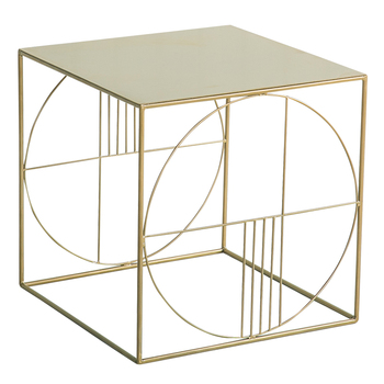 Bedside table wrought iron side simple modern coffee table Nordic sofa side cabinet corner small square table side table [haotian vegetarian] antique chinese cabinet door corner flower corner flower corner piece coffee table htg 087 tri color