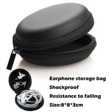 все цены на Portable Earphone Carrying Case Storage Hard Bag Box Shockproof Case For Earphone Headphone Accessories Earbuds Card USB Cable онлайн