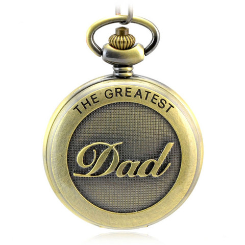 Presente do Dia dos Pais Relógio de Bolso Relógio de Quartzo dos Homens Relógios dos Homens Cadeia Roma Retro Dupla Exibição Oco Fob Relógios Colar 80 cm