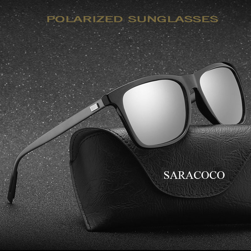SARACOCO Vintage Aluminium Magnesium Polarized Sunglasses Men 2017 Brand Desigenr Shades Polarized Sun Glasses for Women CO22