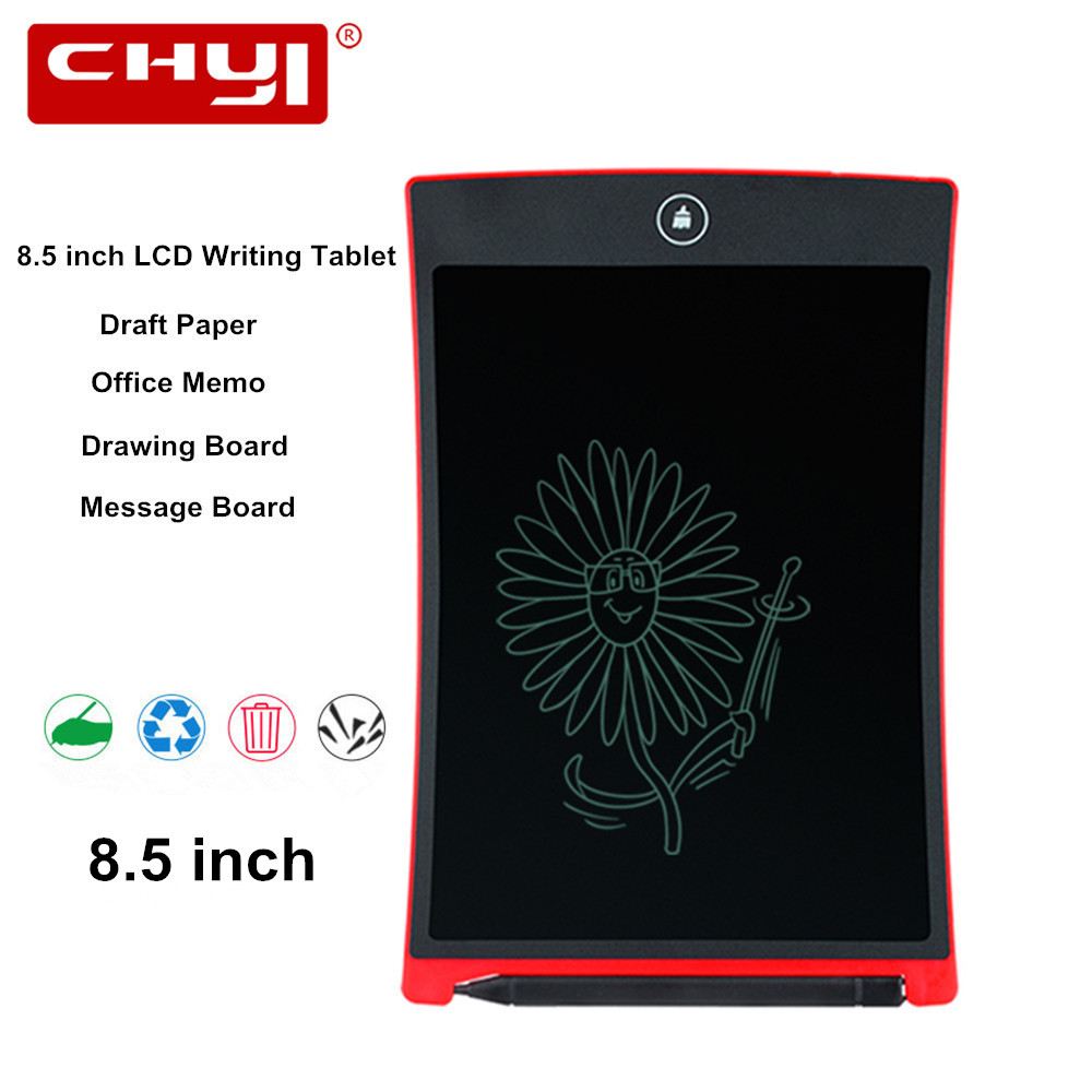 8.5 pollice LCD Tavoletta di Scrittura Elettronica Notepad Disegno Graphic Tablet Portatile Tabellone messaggi con la Penna Dello Stilo LCD Scrittura A Mano Pad
