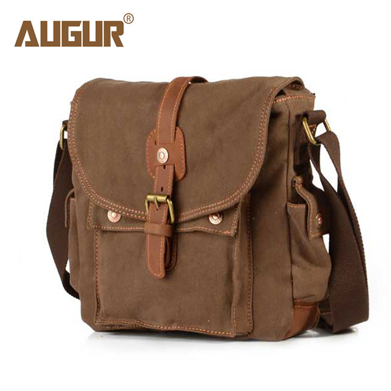 AUGUR 2018 New Men Messenger Bags Canvas Leather Belt Travel Shoulder Bags Casual Briefcase Crossbody Bag Male Bolso Mujer augur new male small canvas crossbody bag multifunction tool functional bag men shoulder designer messenger travel shoulder bags