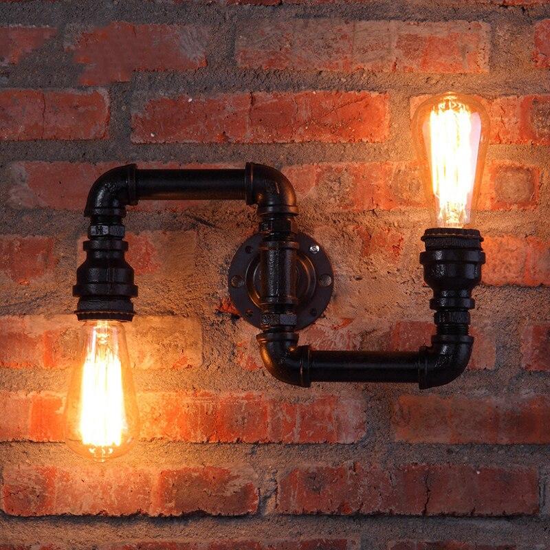 americano lampadas criativas retro loft luzes da tubulacao de agua bar cafe restaurante pub club hall