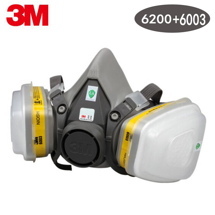 6005 Spraying Filter Mask 6003 3m 6200 6001 Organic Gas N95 9in1 Vapor Pm2 Acid Respirator Face Painting Half 5 6002 With