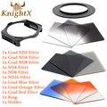 KnightX Набор цветных Фильтров для Cokin P для Nikon D5300 D5200 D5100 D3300 D3200 D3000 d90 6D камеры 400D 650d 70d d7200 линзы 52 ММ
