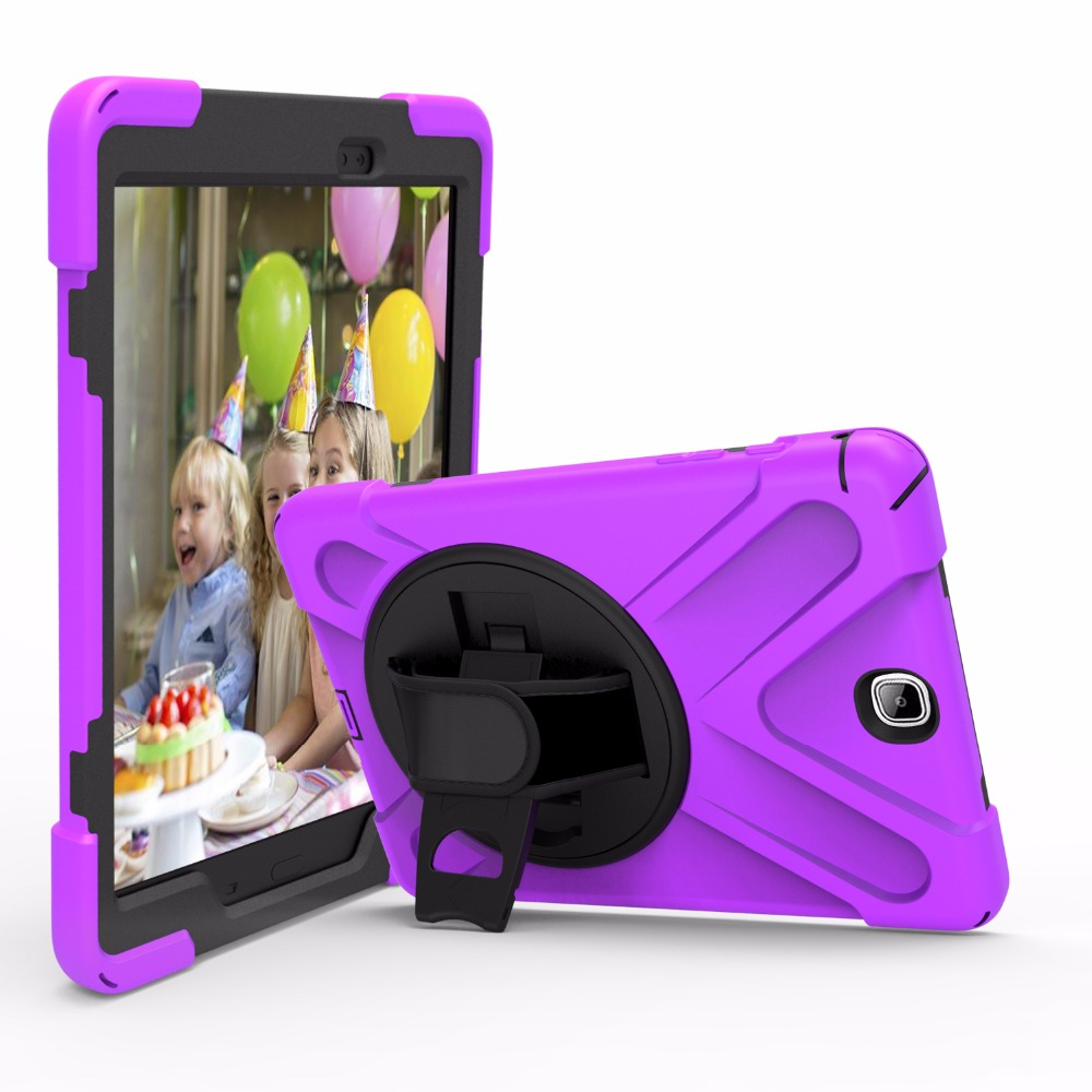 For Samsung Galaxy Tab A 9.7 Case Rotate Heavy Duty Hybird PC Rubber Stand Cover Case For Galaxy Tab A9.7 Tablet SM-T555 SM-T550