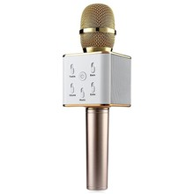 Free shoping Q7 Mini Karaoke Player Wireless Condenser Microphone with Mic Speaker KTV Singing Record for Smart Phones Computer