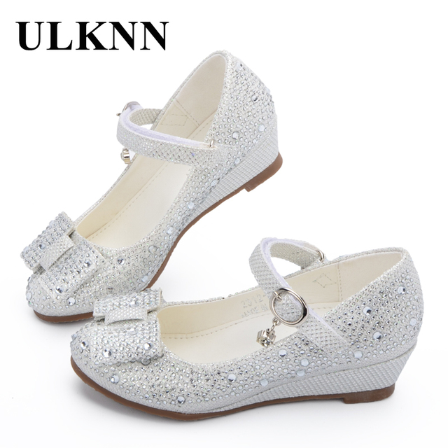 ULKNN Hot sale Princess Shoes Children Wedge Shoes Girls Footwear Soft  Breathable Female Sandals Party For e3a78c6a297e