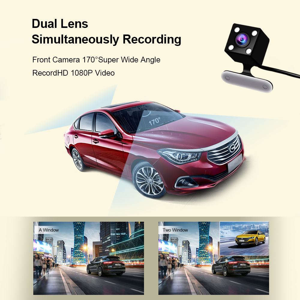 Car DVR Dual Camera Lens Full HD 1080P 4 quot IPS Vehicle Camera Dashcam Video Registrars Recorder Night Vision G Sensor Dash Cam in DVR Dash Camera from Automobiles amp Motorcycles