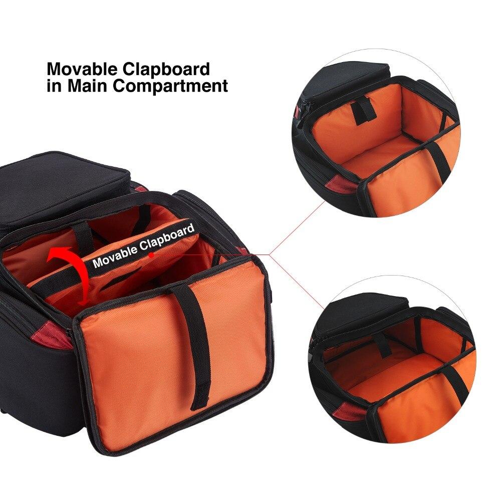 Piscifun Fishing Tackle Backpack Waterproof Tackle Bag Trays Storage Outdoor Fishing Bag Protective Rain Cover(no tackle boxes) - 4